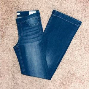 Cello pull on denim flare jeans